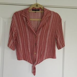 One ❤ Clothing tie front blouse!